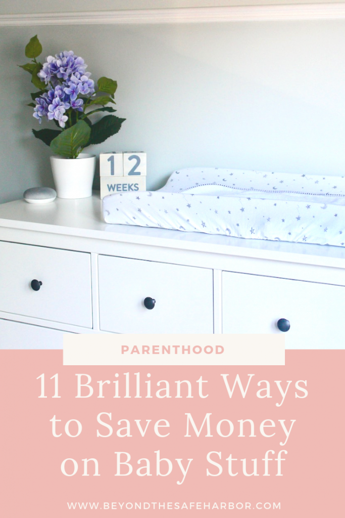 My best tips for how save money on baby stuff. Using these strategies can help put hundreds back in your pocket, while not sacrificing anything important.