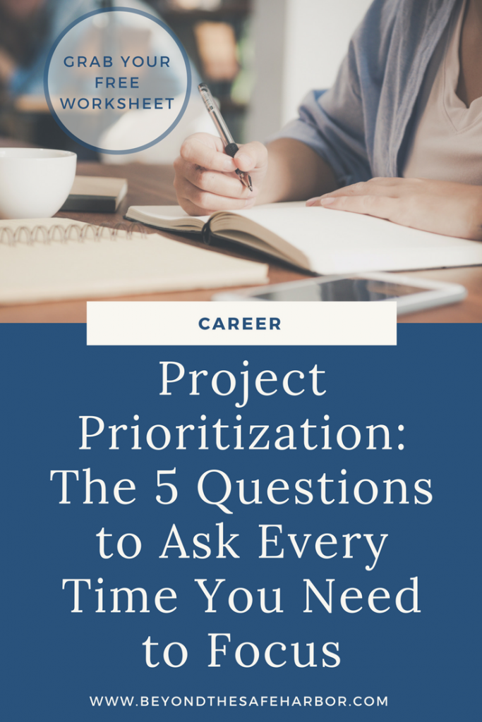 Project Prioritization: The 5 Questions to Ask Every Time You Need to Focus