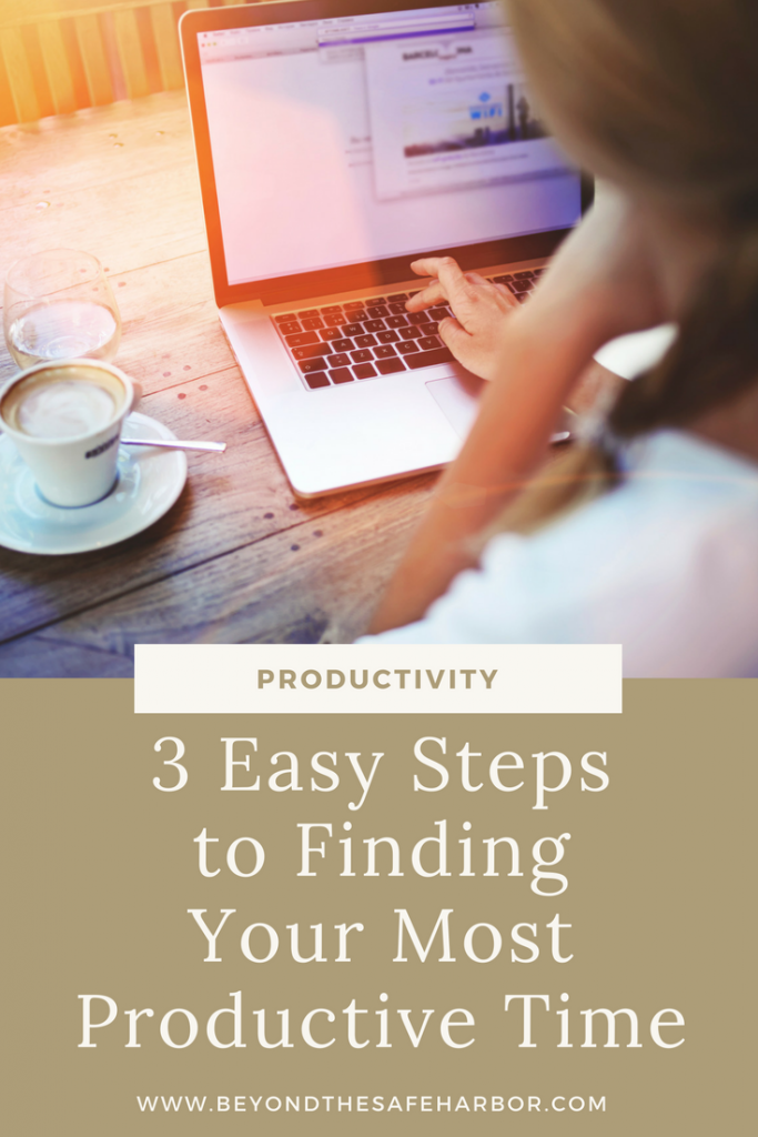 3 Easy Steps to Finding Your Most Productive Time