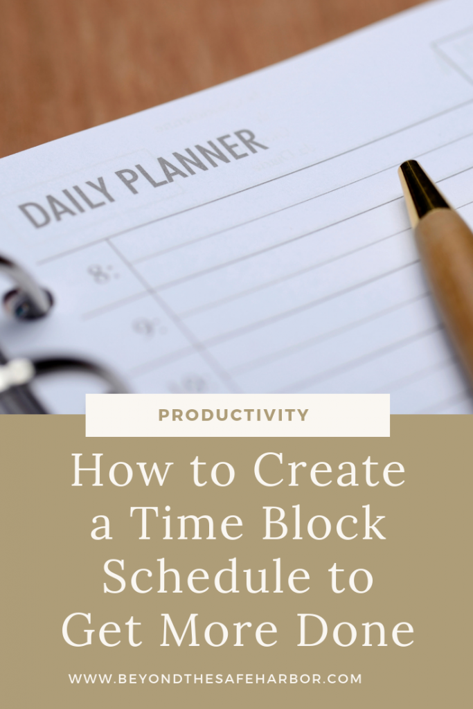 We're all up for getting more done in less time, am I right? Here's how to create and use a time block schedule to conquer your tasks.