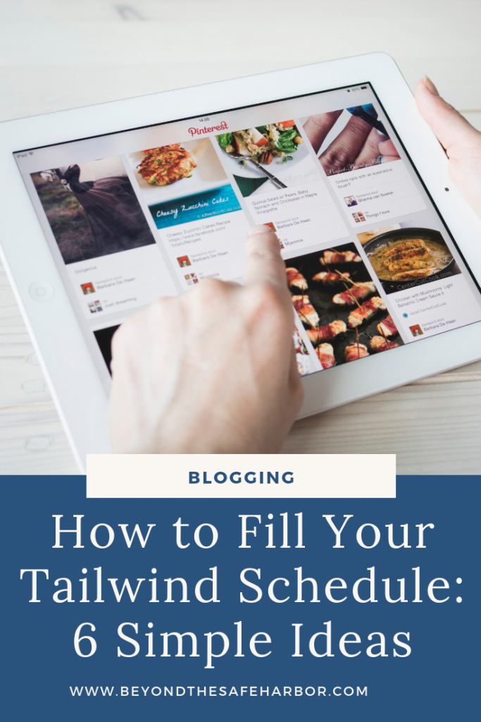 Looking to schedule pins but unsure how to fill your Tailwind schedule? Here are 6 simple ways to quickly and easily add great content to your queue.