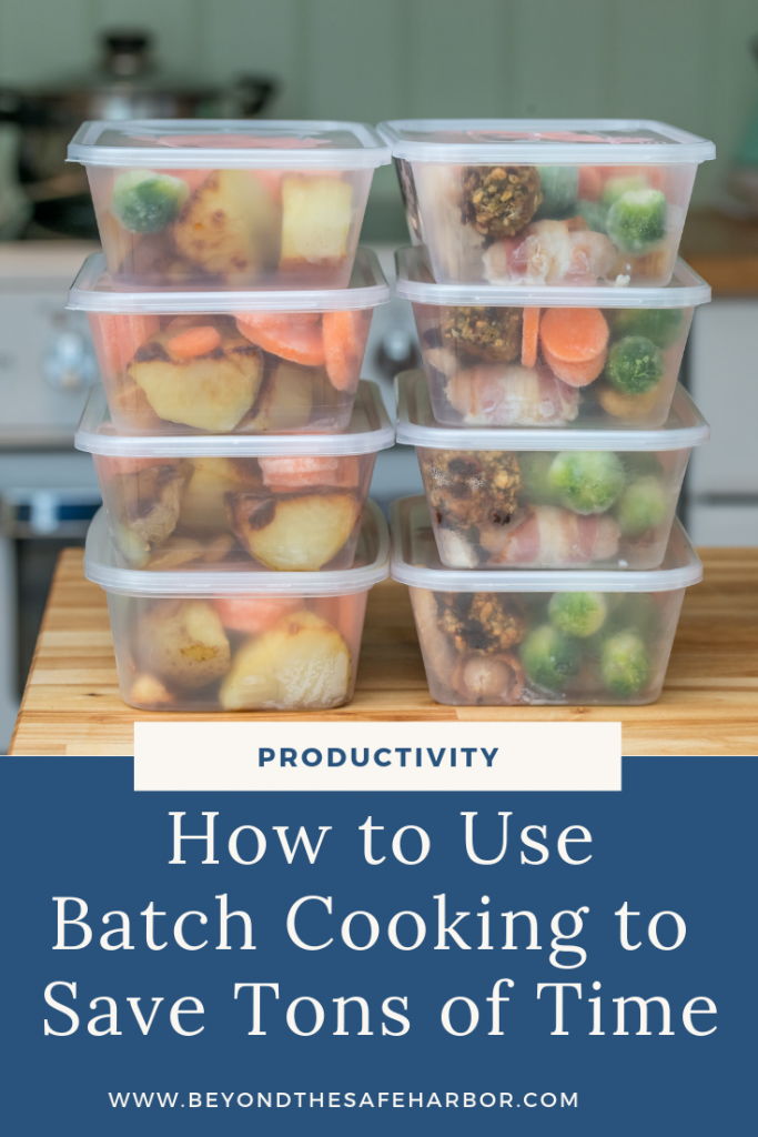 Meal planning, shopping, prepping, and cooking can take a lot of time. This post shares how to start batch cooking to make more of your time in the kitchen.