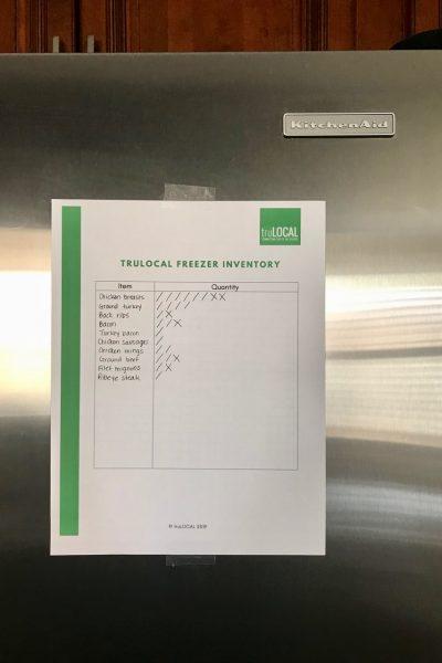 Printable truLOCAL FreezerInventoryTemplate