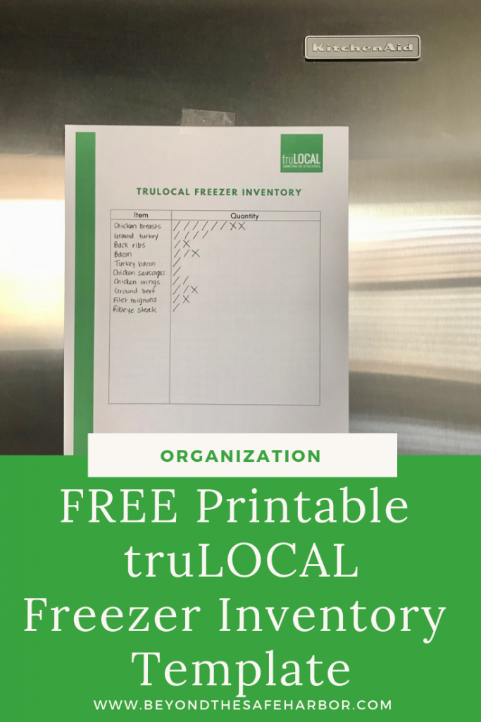 Is your freezer a rabit hole of random, disorganized food? Download this FREE freezer inventory template so that you can always know what you have on hand!
